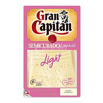 Gran Capitán Queso semicurado semigraso en lonchas 200 g
