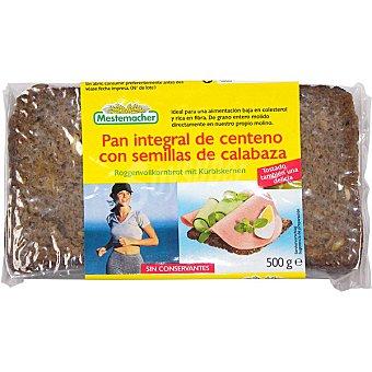 Mestemacher pan integral de centeno con semillas de calabaza Paquete 500 g