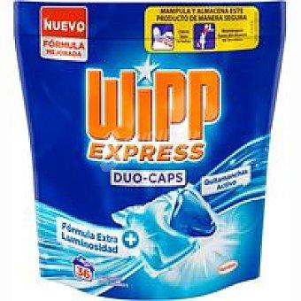 Wipp Express Detergente en cápsulas duo Bolsa 36 dosis