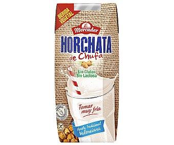 Mercader Horchata de chufa, receta tradicional valenciana, sin gluten y sin lactosa 330 ml