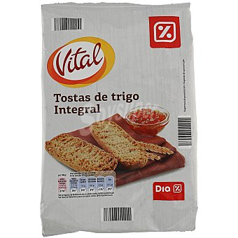 Dia vital Tostas de trigo integral paquete 225 gr Paquete 225 gr