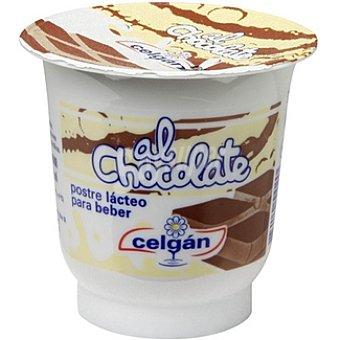 CELGAN Yogur líquido sabor chocolate tarrina 125 g