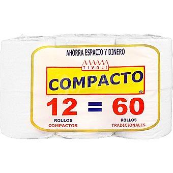 Tivoli papel higiénico compacto paquete 12 rollos