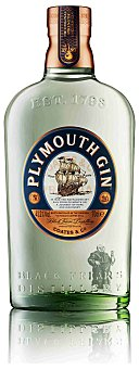 PLYMOUTH Ginebra original 41,2% botella de 70 cl