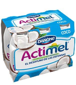Actimel Danone Yogur líquido coco Danone pack de 6x100 g