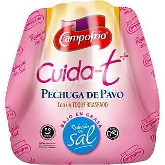 Campofrio Cuida-t+ Pechuga de pavo con un toque braseado bajo en grasa reducido en sal sin gluten sin lactosa
