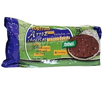 Santiveri Tortitas de arroz con chocolate con leche 8 unidades (120 gramos)