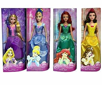 Disney Muñeca Princesa Disney con Traje de Purpurina 1 Unidad