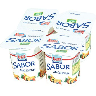 Kalise Yogur sabor macedonia pack 4 unds. 125 g Pack 4 unds. 125 g