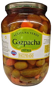 Hacendado Aceituna gazpacha Tarro 500 g escurrido