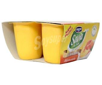 Savia Danone Yogur de soja sabor melocotón Pack 4 unidades de 100 gramos