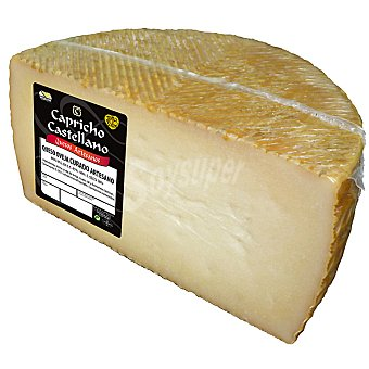 CAPRICHO CASTELLANO Queso curado de leche cruda peso aproximado media pieza 1,6 kg