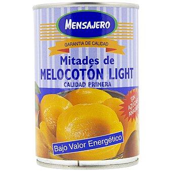 Mensajero Mitades de melocotón en almíbar sin azúcar añadido 240 g. peso neto escurrido