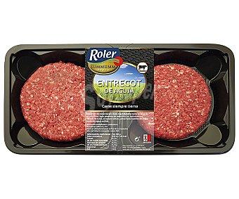 ROLER Summumm Bandeja de burger meat de entrecot de aguja de vacuno 2 x 120 g