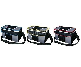 IGLOO Bolsa nevera semirigido con capacidad de 5 litros, bandolera y cierre de cremallera y diseño gris con toques de color 1 unidad