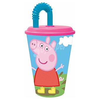 STOR Vaso de caña con dibujo de Peppa Pig 43 cl