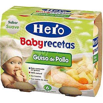 Hero Baby Tarrito guiso de pollo Recetas Caseras pack 2x200 g envase 400 g