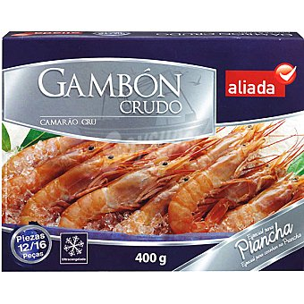 Aliada Gambón crudo especial plancha 12/16 piezas Estuche 400 g neto escurrido