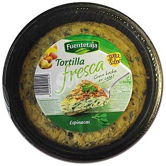 Fuentetaja Tortilla fresca con espinacas Envase 300 g
