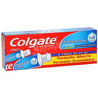 Colgate Pasta dentífrica con flúor y calcio protection caries  Pack 2 tubos x 75 ml