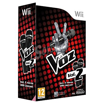 WII Wii La Voz Vol. 2 con Micrófonos para