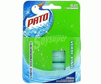 Pato Recambio Bloques WC Verde Pino 2u