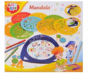 Rik&Rok Auchan Juego para crear y colorear tus propios Mandalas 1 Unidad