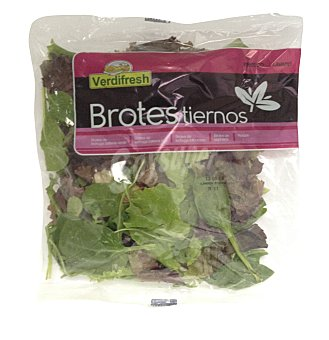 Varios Ensalada brotes tiernos (lechuga batavia, lollo rossa, espinaca, rúcula) Bolsa 100 g