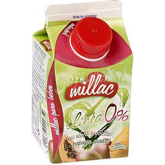 Millac yogur líquido Línea 0% con efecto prebiótico papaya mango con fibra y vitamina D  envase 200 g
