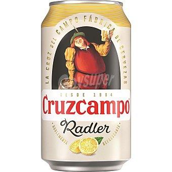 Cruzcampo Cerveza rubia con zumo natural de limón  Lata de 33 cl