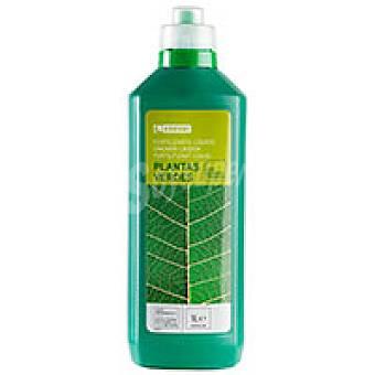 Eroski Fertilizante para plantas verdes Botella 1 litro