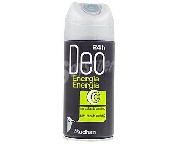 Auchan Desodorante Spray Energia, sin sales de aluminio 150 Mililitros