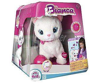 CLUB PETZ Bianca Bianca, gatita interactiva de peluche con pelota, PETZ.
