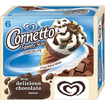 Frigo Cornetto Cono de helado con nata y chocolate familiar 6 unidades estuche 560 ml 6 unidades