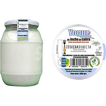 Cosecha directa Yogur artesanal desnatado natural de leche de cabra tarro 1 kg tarro 1 kg