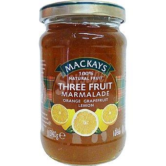 MACKAYS Mermelada de 3 frutas naranja limón y pomelo Frasco 340 g