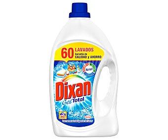 Dixan Detergente máquina líquido gel total quitamanchas  Botella 60 dosis