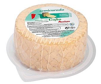 Auchan Queso semicurado mezcla untado con gofio 1 kg. 443 gramos aproximados