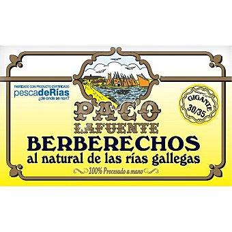 Paco Berberechos al natural 30-35 piezas pesca de ría Lata 65 g neto escurrido