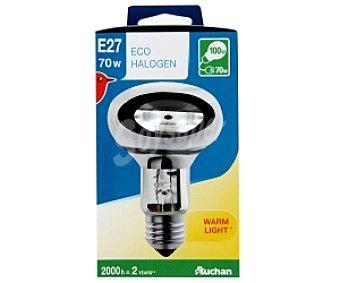 AUCHAN Bombilla EcoHalógena Reflectora R80 E27 70W 1 Unidad