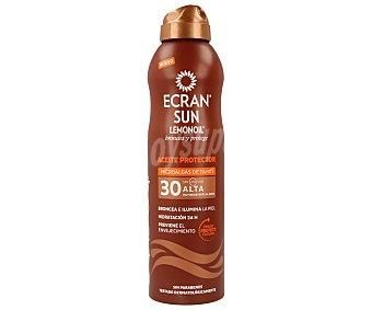 Ecran Aftersun Aceite protector y bronceador con factor protección 30 (alto) 250 mililitros