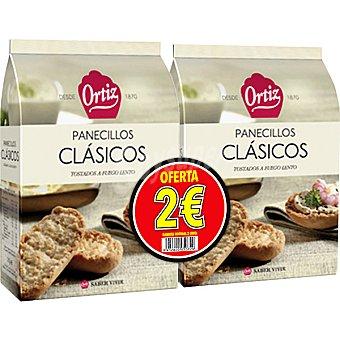 ORTIZ panecillos clásicos tostados a fuego lento (formato ahorro) pack 2 paquete 225 g