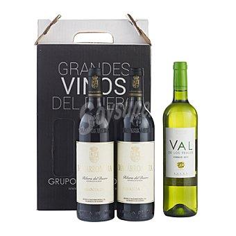 "Valdelosfrailes de vino D.O. ""Ribera del Duero"" MATARROMERA tinto crianza + 1 botella de vino verdejo Estuche de 2 botellas"