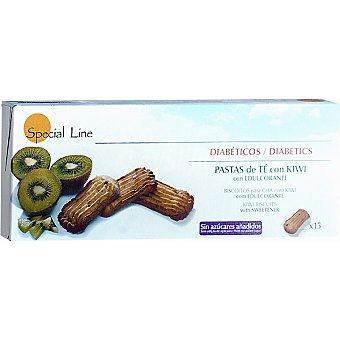 Special Line Pastas de té con kiwi con edulcorante Diabéticos 15 unidades