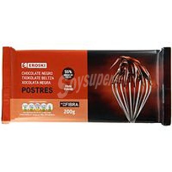 Eroski Basic Chocolate negro para postre Tableta 200 g