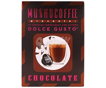 Mushucoffee Chocolate en monodosis Caja 10 u