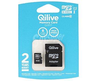 Qilive Tarjeta de memoria microsdhc 8GB clase 10 micro sdhc 8GB