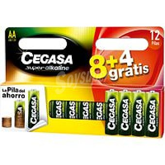 LR6 CEGASA Pila Pack 8+4 unid