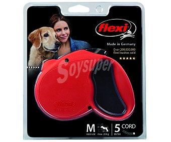 Flexi Correa extensible de 5 metros para perros medianos (máximo 20 kilogramos) 1 unidad
