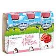 Batido de fresa Pack 3 envases de 200 ml Central Lechera Asturiana